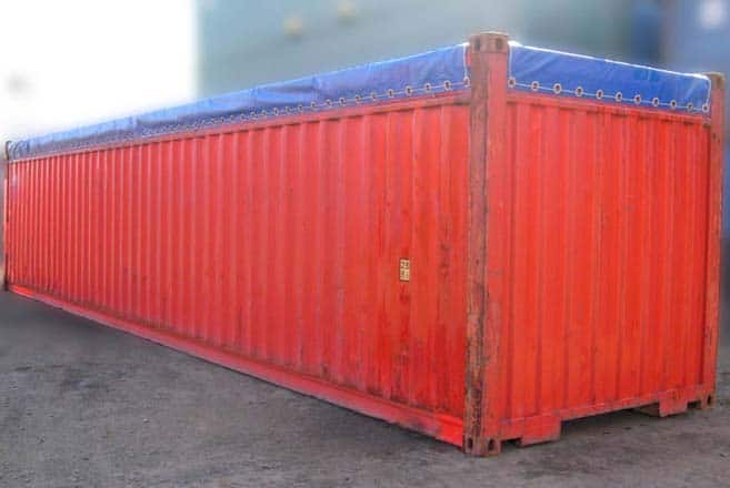 Container open top 40 pies rojo