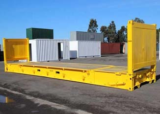 Contenedor Flat Rack Collapsible 40' amarillo