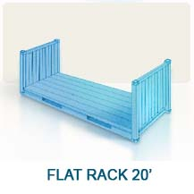 Contenedor marítimo Flat Rack 20'