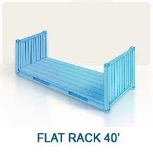Contenedor marítimo Flat Rack 40'