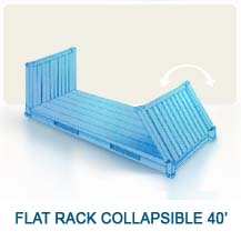 Contenedor marítimo Flat Rack Collapsible 40'