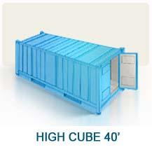 Contenedor marítimo High cube 40'