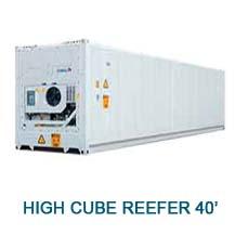 Contenedor marítimo High cube reefer 40'