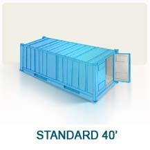 Contenedor marítimo Standard 40'