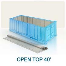 Contenedor marítimo open top 40'