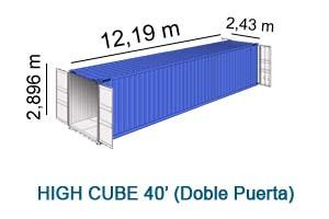 High Cube 40' Doble Puerta