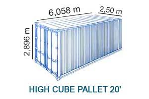 High Cube Pallet 20'
