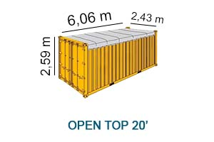 Open top 20'