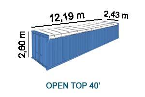 Open top 40'