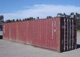 contenedor 40 pies rojo