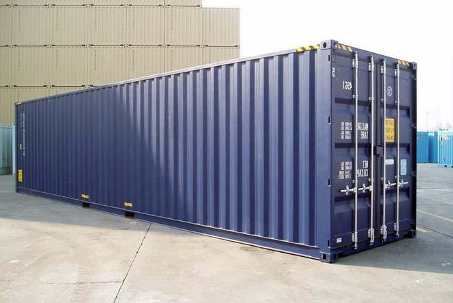 contenedor High cube 40 pies azul