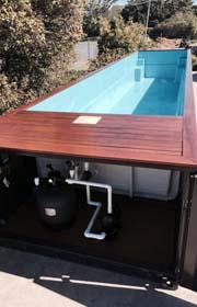 lateral izquierdo piscina contenedor
