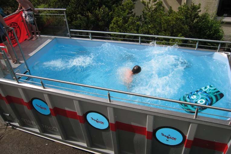 piscina en container